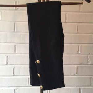 Ralph Lauren Black Legging Tights w/ Buttons Sz AB